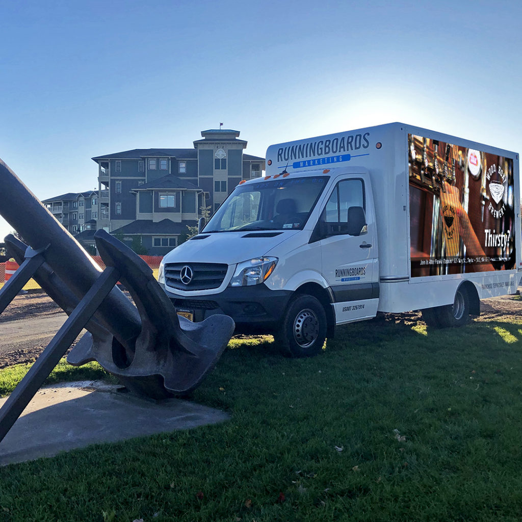 DAV (our Digital Advertising Vehicle) at the 8th Annual Punkin' Chunkin', parked at the Harbor Hotel end of Riverside Drive.